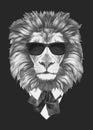 Portrait of Lion in suit.
