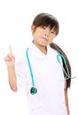 Portrait of little asian girl nurse Royalty Free Stock Image