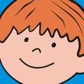 Boy, head of kid, background, vector icon