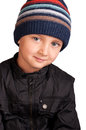 Portrait of little boy in hat Stock Photography