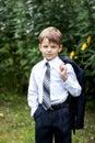 Portrait Of Little Businessman...