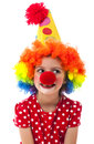 Portrait of a little clown Royalty Free Stock Photo