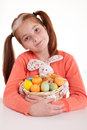 Portrait of little girl with Easter egg Royalty Free Stock Photography