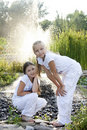 Portrait of little girls Stock Photography