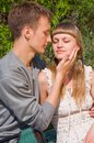 Portrait of love in nature Royalty Free Stock Images