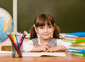 Portrait of lovely girl in classroom Royalty Free Stock Photo