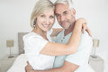 Portrait of a loving mature couple closeup at home Royalty Free Stock Image