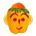 Portrait made of vegetables and fruits smiling man Royalty Free Stock Image