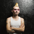 Portrait of male punk. Stock Images