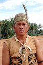 Portrait of male tribal kalimantan Indonesia Stock Photos