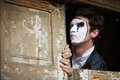 Portrait of a Man ​​mime. Stock Photo