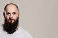Portrait of a man with a beard studio shot Stock Photo
