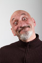 Portrait of a man with a funny facial expressions very Royalty Free Stock Images