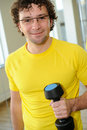 Portrait of a man in gym Stock Photos