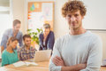 Portrait of a man with his colleague behind him men in the office Stock Photography
