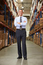 Portrait of manager in warehouse looking to camera Royalty Free Stock Photos