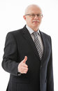 Portrait of a mature businessman offering handshake Royalty Free Stock Photo