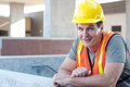 Portrait of a mature construction worker outside Royalty Free Stock Photo