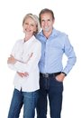 Portrait of mature couple happy lovely isolated over white background Royalty Free Stock Photos