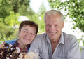Portrait of mature loving couple Stock Images