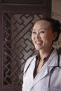 Portrait of mature woman doctor Stock Photos