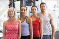 Portrait Of Men And Women At The Gym Royalty Free Stock Image