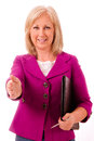 Portrait of middle-aged businesswoman Royalty Free Stock Images