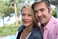 Portrait of middle-aged couple outdoors Royalty Free Stock Photo