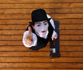 Portrait of the mime Royalty Free Stock Photo