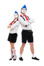 Portrait of mimes Stock Image