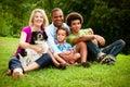 Portrait of mixed race family Royalty Free Stock Photo