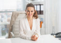 Portrait of modern business woman in office suit Royalty Free Stock Image