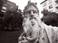 Portrait of Moses statue Royalty Free Stock Photo