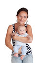 Portrait of a mother and baby Stock Images
