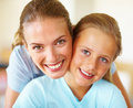 Portrait of a mother and a daughter together Royalty Free Stock Image