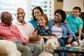 Portrait Of Multi Generation Family Royalty Free Stock Photo