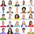 Portrait of Multiethnic Colorful Diverse People Royalty Free Stock Photo