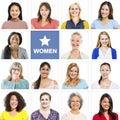 Portrait of Multiethnic Diverse Cheerful Women