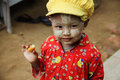 Portrait of a Myanmar young child Royalty Free Stock Photos