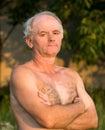 Portrait of naked man Royalty Free Stock Image