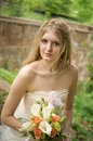 Portrait of a natural bride Royalty Free Stock Images