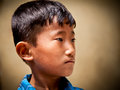 Portrait of nevaris boy on the street of old townn bhaktapur k town in kathmandu valley nepal Stock Photography