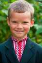 Portrait of nice little schoolboy Royalty Free Stock Photo