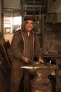 Portrait of old blacksmith a posing at his workshop in resen prespa macedonia november Stock Photo