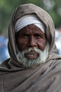 Portrait of an old man from Punjab, India