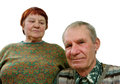 Portrait older pair white background Royalty Free Stock Photo