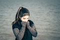Portrait outdoor of a hipster teenage girl Royalty Free Stock Photo