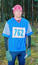 Portrait of the participant of sport orienteering Royalty Free Stock Images