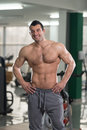 Portrait Of A Physically Fit Muscular Hairy Man Royalty Free Stock Photo