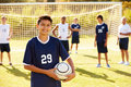 Portrait Of Player In High School Soccer Team Royalty Free Stock Photo